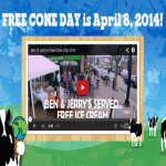Free Cone Day With Ben & Jerry's On 8th April 2014 - Gratisfaction UK
