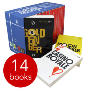 James Bond Collection - 14 Book Slipcase £12 delivered with FREE delivery code FLOWERS at The Book People Gratisfaction UK Flash Bargains