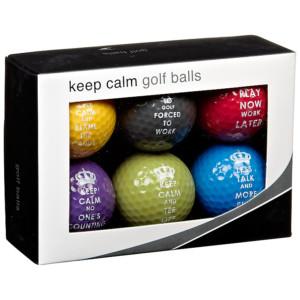 Longridge Keep Calm Golf Balls 6 Pack HALF PRICE £5 at John Lewis Free Click and Collect Gratisfaction UK Flash Bargains