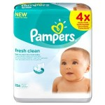 Pampers Fresh Clean Wipes – 4 x Packs of 64 (256 Wipes) £3.50 At Amazon - Gratisfaction UK