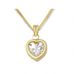 BARGAIN Miore 9ct Yellow Gold Ladies Clear Cubic Zirconia Heart Pendant WAS £245 NOW £39.99 At Amazon - Gratisfaction UK