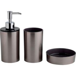 BARGAIN Stainless Steel Bathroom Accessories Set Was NOW - Brushed stainless steel bathroom accessories