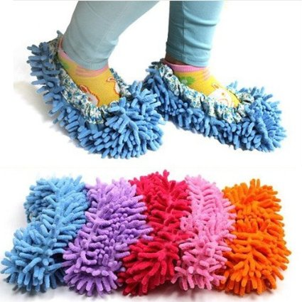 Bargain Cute Dust Mop Slippers Shoes Purple Just 163 1 82
