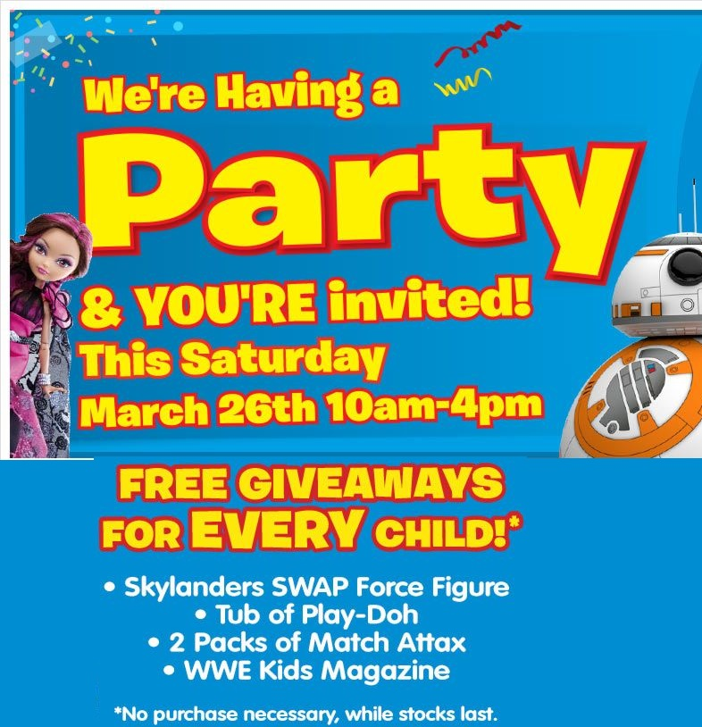 free toy giveaways