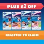 FREE DryNites Sample - Gratisfaction UK