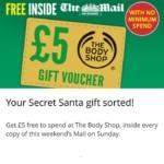 FREE £5 Body Shop Voucher - Gratisfaction UK