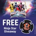 FREE Power Rangers Ninja Steel Star - Gratisfaction UK