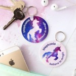 FREE Personalised Stardust Unicorn Keyring