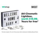 FREE Cinematic Lightbox - Gratisfaction UK