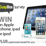 WIN A Free Apple iPhone, iPad or iPad With Soapbox Survey - Gratisfaction UK