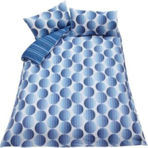 BEDROOM Living Stripy Spots Blue Duvet Cover Set Double with 4 pillow cases WAS 14.99 NOW £7.49 Argos Gratisfaction UK Flash Bargains