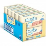 BARGAIN Huggies Pure Baby Wipes 10 x Packs of 64 (640 Wipes) NOW £7.62 At Amazon - Gratisfaction UK