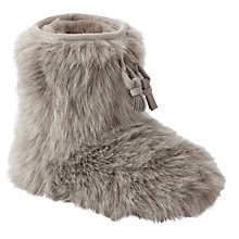 John Lewis Girl Furry Slipper Boots WAS £18 then £9 NOW £5.50 Gratisfaction UK Flash Bargains