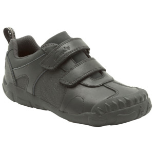 KIDS Reduced to clear Clarks Stompo Day Boys Shoes in Black NOW £17 at John Lewis Gratisfaction UK Flash Bargain