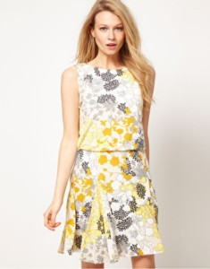LARGE SIZE ONLY Oasis Patched Floral Skater Dress WAS £45 NOW £10 at ASOS Gratisfaction UK Flash Bargains