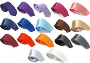 Mens 2 Inch Slim Satin Tie Many Colours JUST 99p delivered at Amazon
