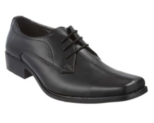 Mens Black Genuine Leather Formal Shoes Size 6 to 11 UK £12.99 delivered at Ebay Gratisfaction UK Flash Bargains