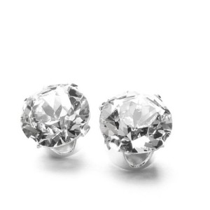 Silver Stud Earrings set with Swarovski Crystal WAS £17.99 NOW £3.99 At Amazon Gratisfaction UK Flash Bargains
