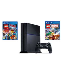 Sony PS4 500GB with LEGO Movie and Marvel Superheroes Bundle £359 at Argos Gratisfaction UK Flash Bargains