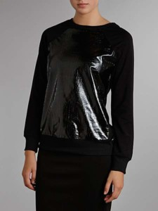 True Decadence Two Texture Jumper Black WAS £40 NOW £10 at House of Fraser Gratisfaction UK Flash Bargains