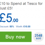 BARGAIN £10 gift card to spend at Tesco for just £5 - Gratisfaction UK