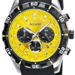 BARGAIN Accurist Men's Quartz Watch with Yellow Dial Chronograph Display was £200 NOW £54.40 at Amazon - Gratisfaction UK