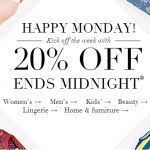 SALE One Day Only 20% off Clothing, Beauty and Homeware at M&S ENDS MIDNIGHT