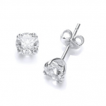 BARGAIN 9ct White Gold Chic French Fitting Round Stud Earrings JUST £56.90 At Amazon - Gratisfaction UK
