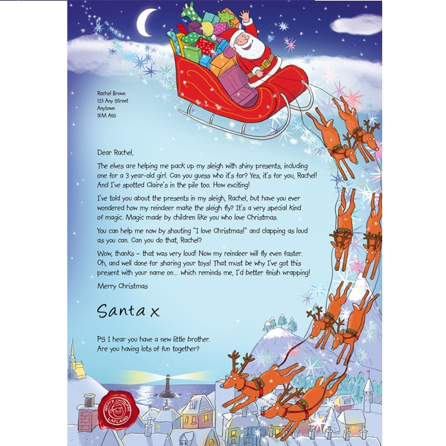 Free personalised letter from santa 2014 gratisfaction uk spiritdancerdesigns Gallery