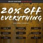 FLASH SALE 20% Off Everything At Topman ENDING TOMORROW
