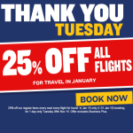 FLASH SALE 25% Off All Ryanair Flights In January TODAY ONLY! - Gratisfaction UK