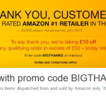VOUCHER CODE Today Only! Get £10 off a £50 spend at Amazon using discount code