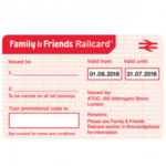 FREE 2 Month Family & Friends Railcard - Gratisfaction UK